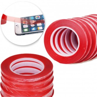 Adhesive Red Double Side Tape Sticker (1mm/2mm/5mm)